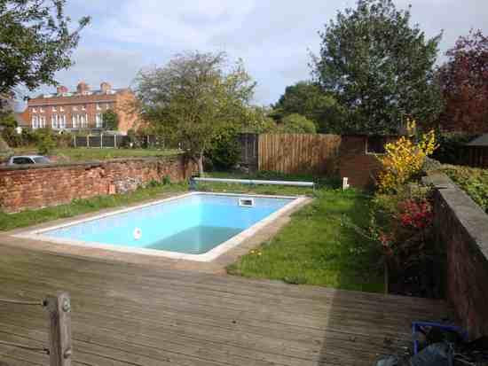 Swimming pool garden  Upper Rear Garden swimming Pool |