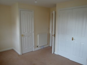 Master beedroom with built in wardrobes