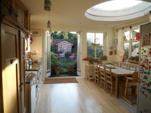 Kitchen & Dining Area with Patio doors to rear garden