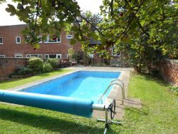 Pool from top of garden
